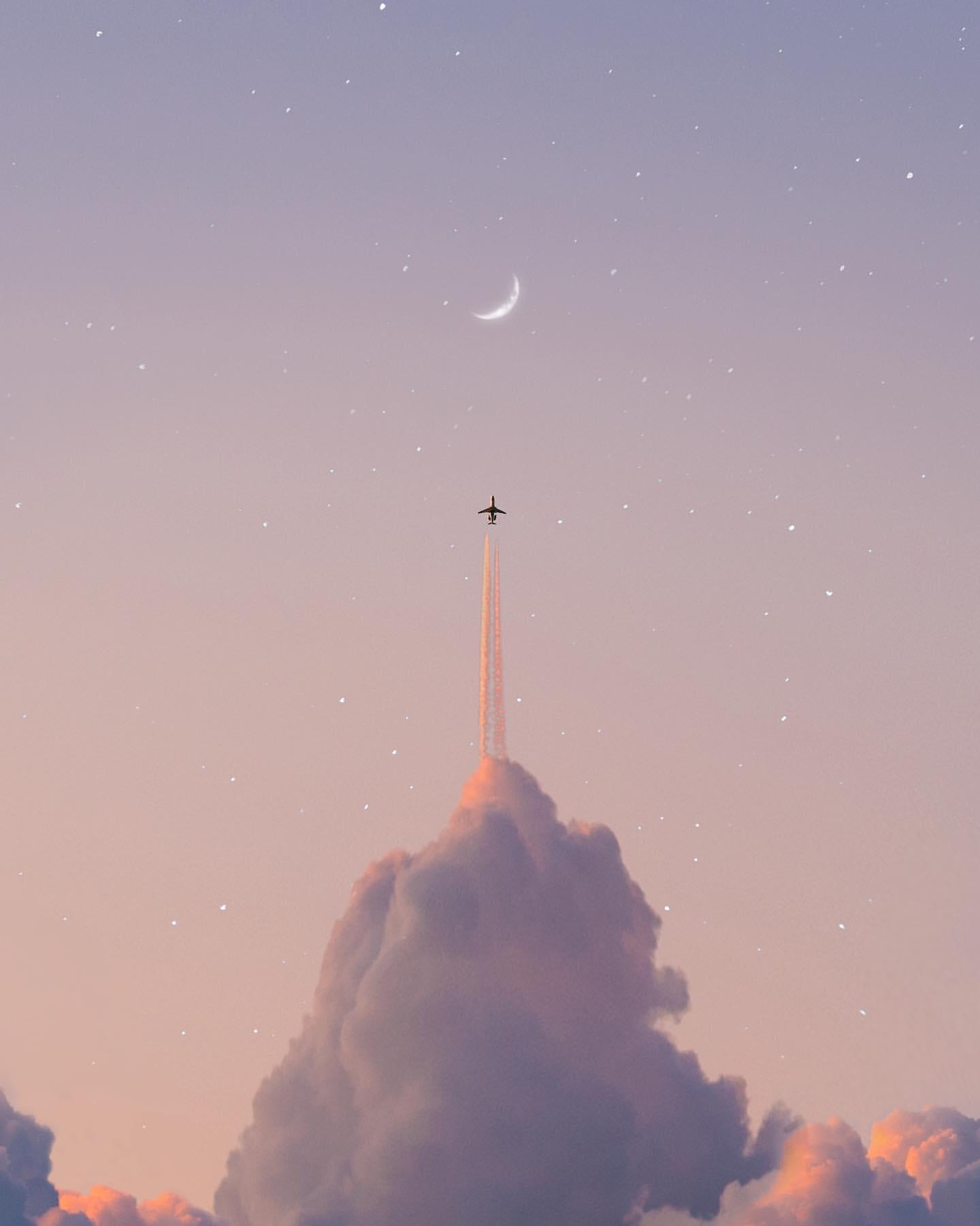 Gökyüzü Sahnesinde Renkli Bulutlar