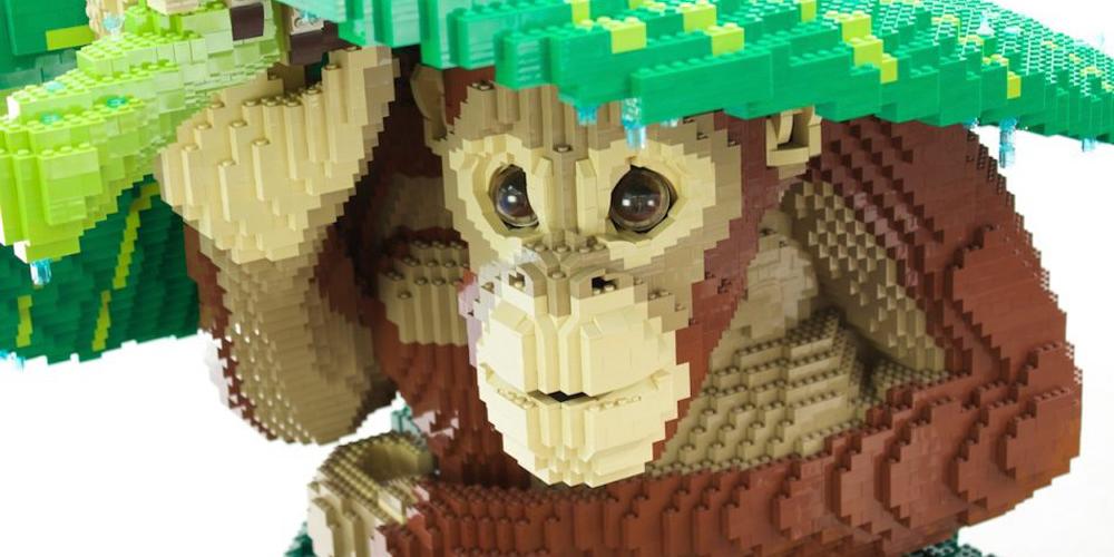 Legodan Dev Hayvan Heykelleri