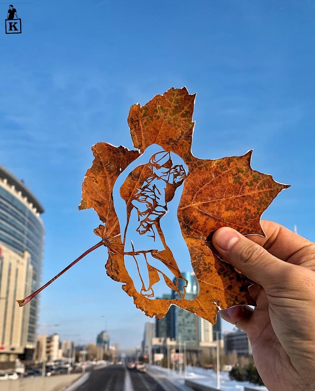 Yaprakların Üzerine Kesilen Çizimler