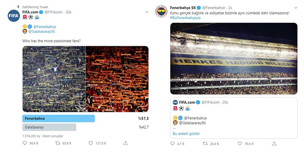 FIFA'nın Fenerbahçe - Galatasaray Anketi