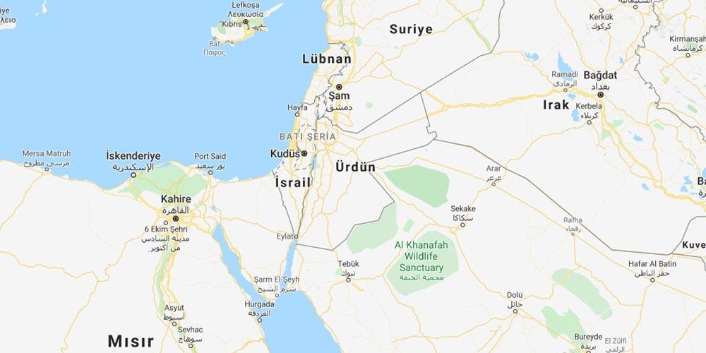 Google Haritalar'da Filistin Yok