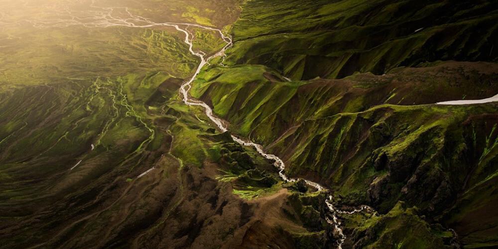İzlanda'dan Göz Alıcı Hava Fotoğrafları