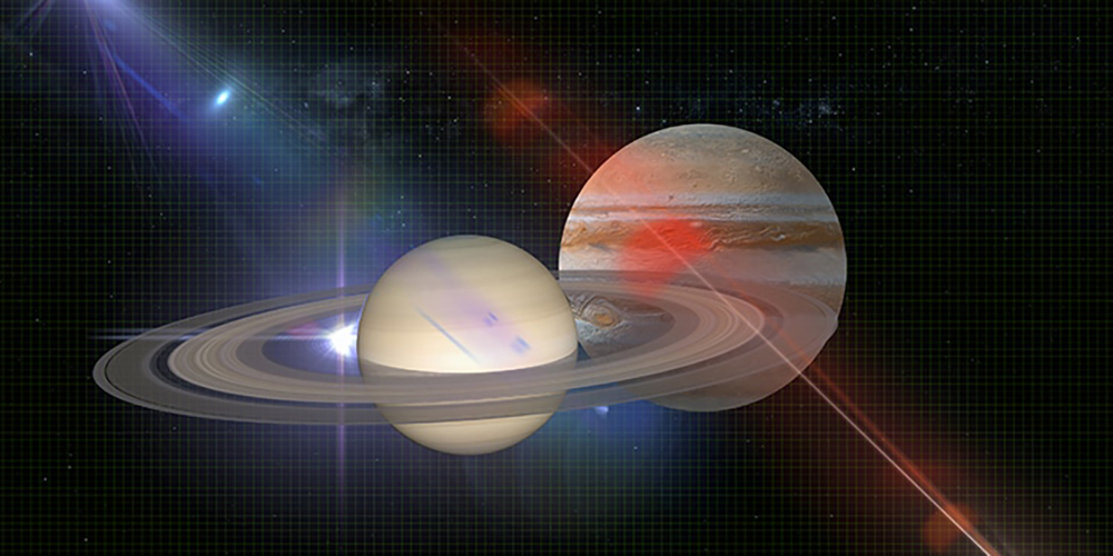 Jüpiter ve Satürn'ün Büyük Kavuşması