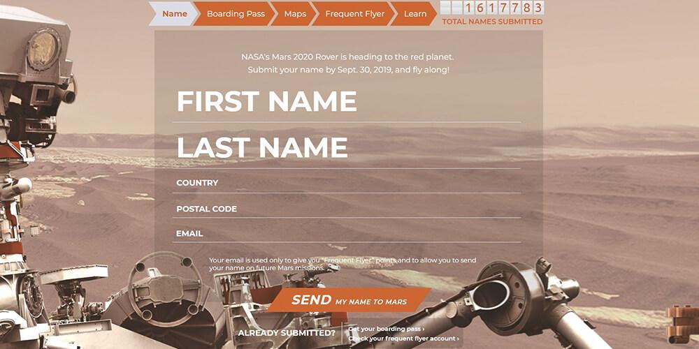 NASA Mars Bileti